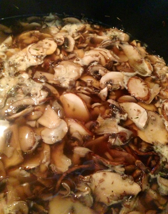 mushroomsoupcooking